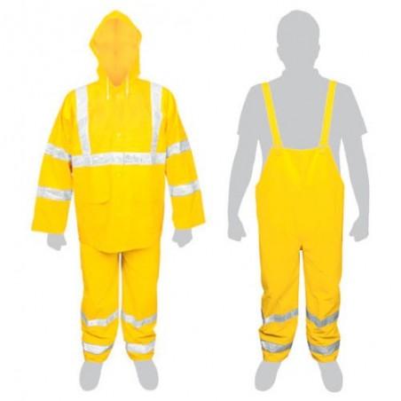 Conjunto Impermeable Amarillo Con Reflejantes TRUPER