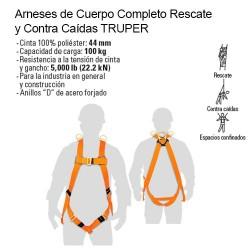 Arneses de Cuerpo Completo Rescate y Contra Caídas TRUPER