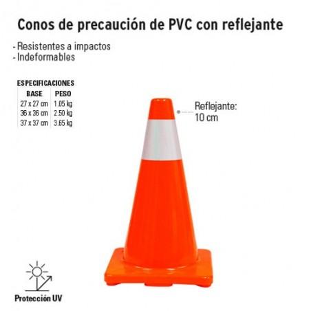 Conos de Precaución de PVC con Reflejante TRUPER