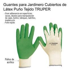 Guantes para Jardinero Cubiertos de Látex Puño Tejido TRUPER