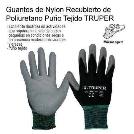 Guantes de Nylon Recubierto de Poliuretano Puño Tejido TRUPER