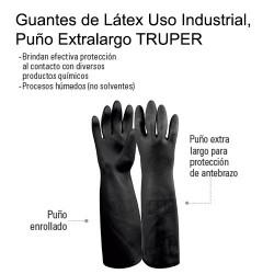 Guantes de Látex Uso Industrial, Puño Extralargo TRUPER