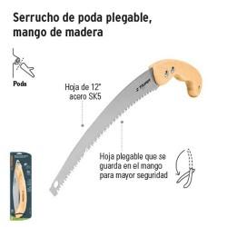Serrucho de Poda Plegable Mango de Madera TRUPER