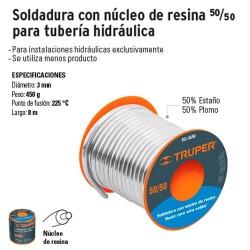Soldadura con Nucleo de Resina 50/50 para Tuberia Hidráulica TRUPER