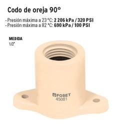 """Codo Oreja 90º CPVC de 1/2"""""""