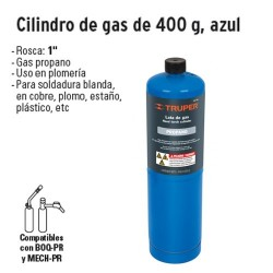 Cilindro de Gas 400 g TRUPER