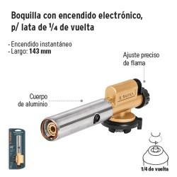 Boquilla con Encendido Electrónico para Lata con entrada de 1/4 de Vuelta TRUPER