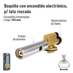 Boquilla con Encendido Electrónico para Lata Roscada TRUPER