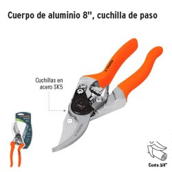 """Tijeras para Poda de Aluminio 8"""" Cuchilla de Paso TRUPER"""
