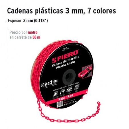 Cadenas Plásticas 3 mm FIERO