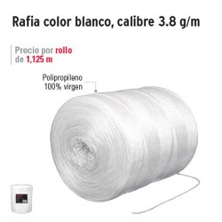 Rafia Color Blanco Calibre 3.8 g/m