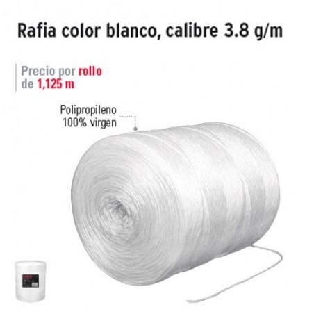 Rafia Color Blanco Calibre 3.8 g/m