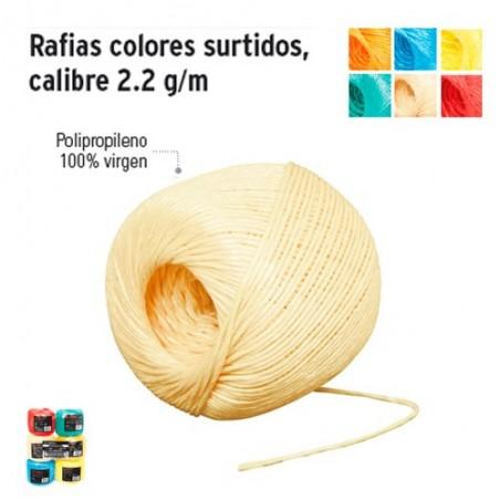 Rafia de Color Calibre 2.2 g/m