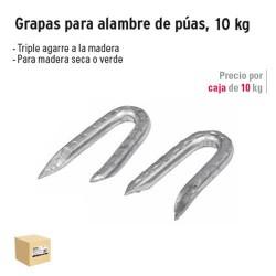 Grapas para Alambre de Púas Galvanizadas 10 kg FIERO