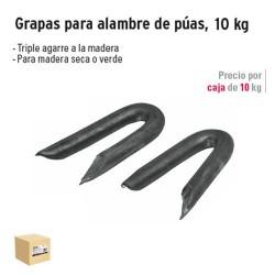 Grapas para Alambre de Púas Negras 10 kg FIERO