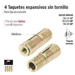 Taquetes Expansivos Sin Tornillo FIERO