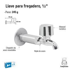 """Llave para Fregadero 1/2"""" FOSET"""