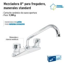 "Mezcladora 8"" Para Fregadero Manerales Standard FOSET"