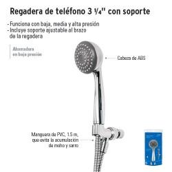 """Regadera de Teléfono 3 1/4"""" con Soporte FOSET"""