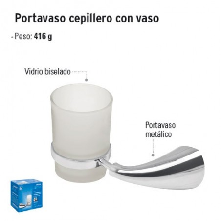 Portavaso Cepillero con Vaso FOSET