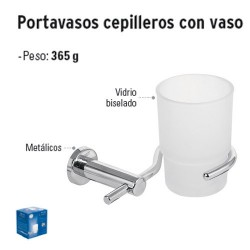 Portavasos Cepilleros con Vaso FOSET