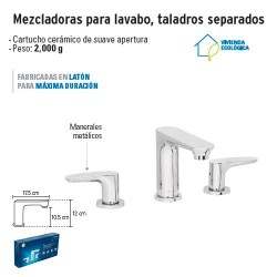 Mezcladoras para Lavabo Taladros Separados FOSET